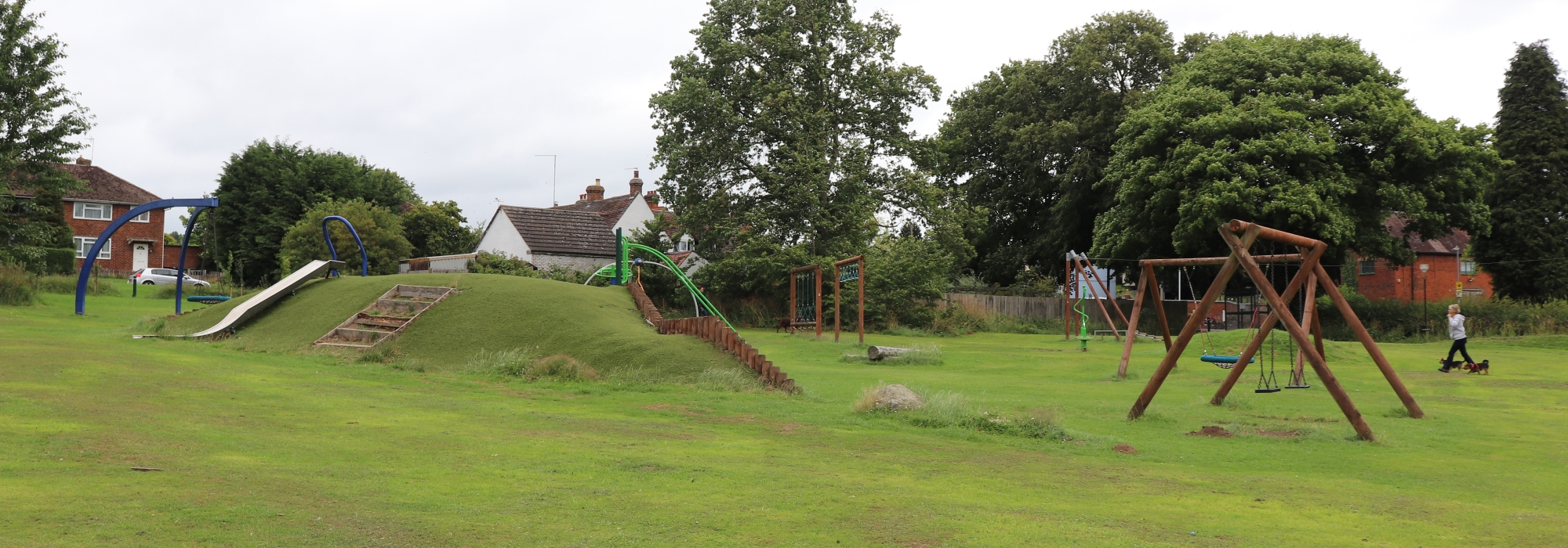 Arley park recreation ground showing childrens play area